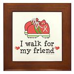 Breast Cancer Walk Friend Framed Tile