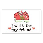 Breast Cancer Walk Friend Rectangle Sticker