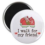 Breast Cancer Walk Friend Magnet
