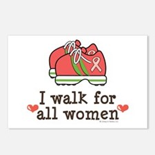 Breast Cancer Walk Women Postcards (Package of 8)
