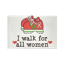 Breast Cancer Walk Women Rectangle Magnet