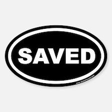 Saved Oval Sticker (Euro)