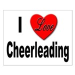 I Love Cheerleading Small Poster