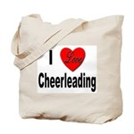 I Love Cheerleading Tote Bag