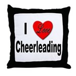 I Love Cheerleading Throw Pillow