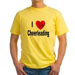 I Love Cheerleading Yellow T-Shirt