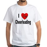 I Love Cheerleading (Front) White T-Shirt