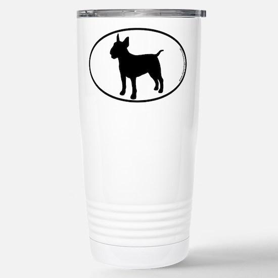 Bull Terrier SILHOUETTE Stainless Steel Travel Mug