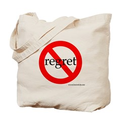 No Room In Your Bag For Regret (Symbol) Tote