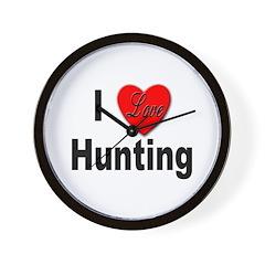 I Love Hunting Wall Clock