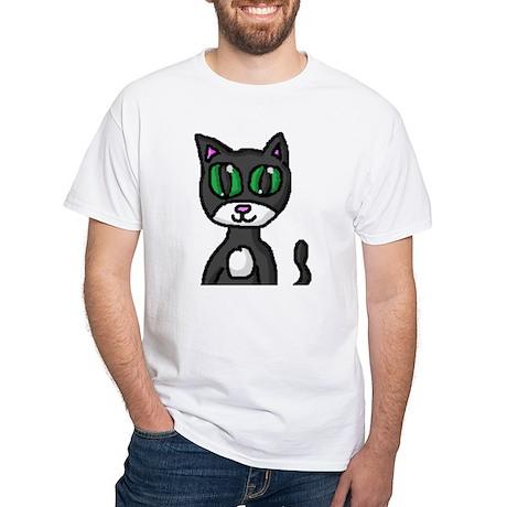 Kitty Man White T-Shirt