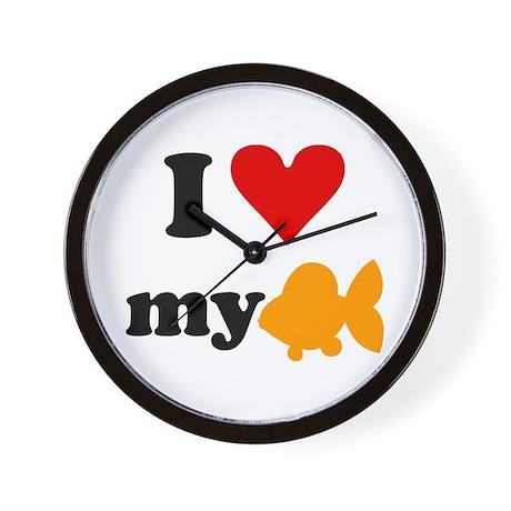 I love my goldfish Wall Clock