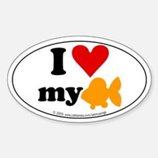 I love my goldfish Oval Decal