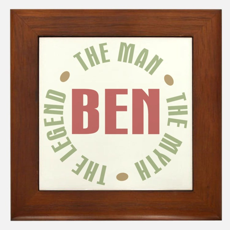 Ben Man Myth Legend Framed Tile