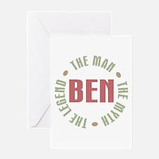 Ben Man Myth Legend Greeting Card