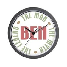 Ben Man Myth Legend Wall Clock