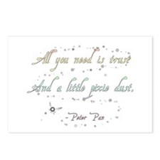 Trust and Pixie Dust Postcards (Package of 8)