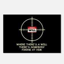 Funny gun slogan Hunting Postcards