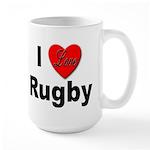I Love Rugby Large Mug