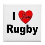 I Love Rugby Tile Coaster