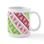 Striped Funky Christmas Ceramic Coffee Mug