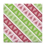 Striped Funky Christmas Tile Drink Coaster