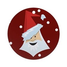 Funky Santa Claus Christmas Ornament (Round)