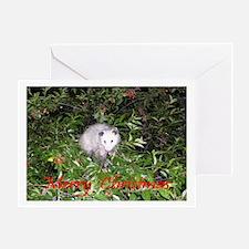 Opossum Cherry Tree Greeting Card