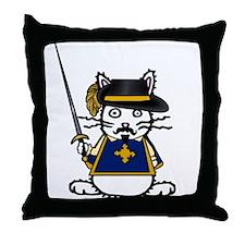 Musketeer Bunny Throw Pillow