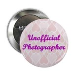 Unofficial Photographer Pink Hearts Button