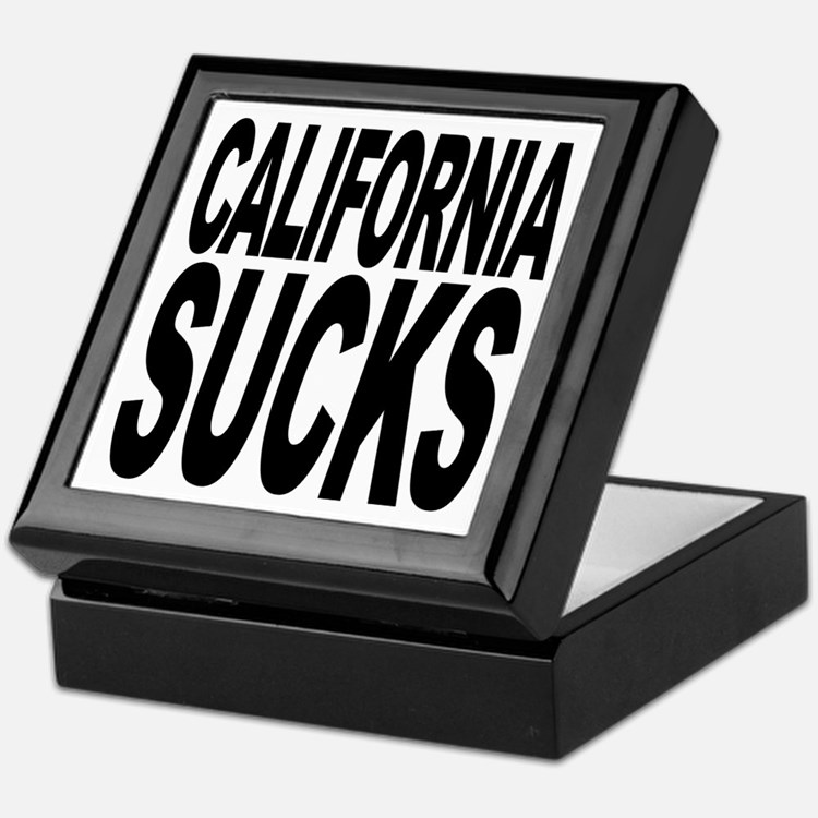 California Sucks Keepsake Box