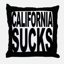 California Sucks Throw Pillow