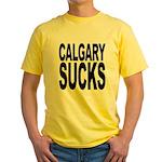 Calgary Sucks Yellow T-Shirt