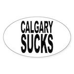 Calgary Sucks Oval Sticker