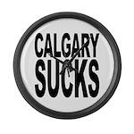 Calgary Sucks Large Wall Clock