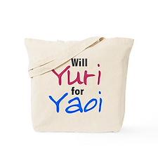 Will Yuri for Yaoi Tote Bag