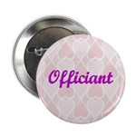 Officiant Pink Hearts Button