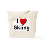 I Love Skiing Tote Bag