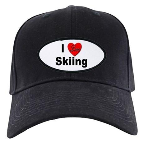 I Love Skiing Black Cap