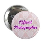 Official Photographer Pink Hearts Button