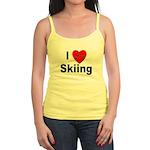 I Love Skiing Jr. Spaghetti Tank