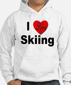 I Love Skiing (Front) Hoodie