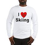 I Love Skiing (Front) Long Sleeve T-Shirt