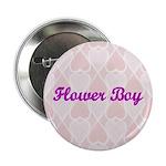 Flower Boy Pink Hearts Button