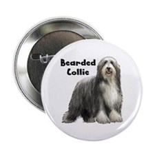 "Bearded Collie 2.25"" Button"