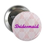 Bridesmaid Pink Hearts Button