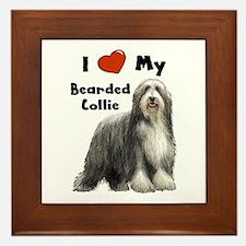 I Love My Bearded Collie Framed Tile