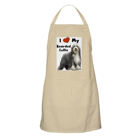 I Love My Bearded Collie BBQ Apron