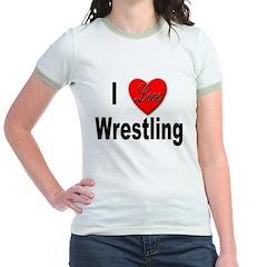 I Love Wrestling (Front) T
