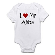 I Love My Akita Infant Bodysuit